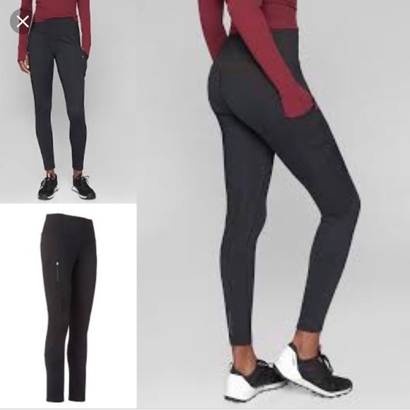 d3e546f8e4fc7f Athleta Pants | Athlete High Traverse Winter Tights With Pockets ...